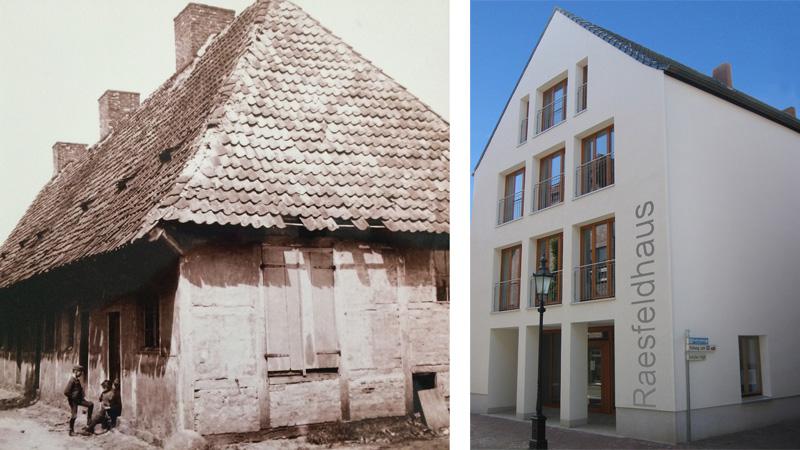 Das Raesfeldhaus Lüdinghausen gestern und heute